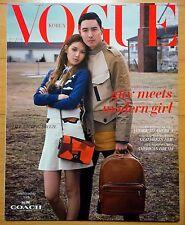 SNSD Girls' Generation SooYoung & Daniel Henney /Coach Catalogue--Vogue/2016
