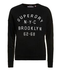 new womens superdry factory second embossed sport code crew black ebay