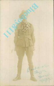 WW1-Anzac-Soldier-Australian-Forces-Sign-1917-France-Real-Photo