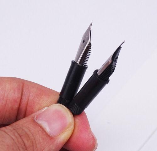 Creative Acrylic Colorful Glass Dip Pen /& Fountain Pen Dual-Use Screw 0.38mm Pen