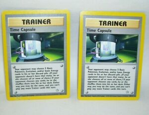 Two-Pokemon-Card-Trainer-Time-Capsule-No-90-111-Rare-1995-2000-Nintendo