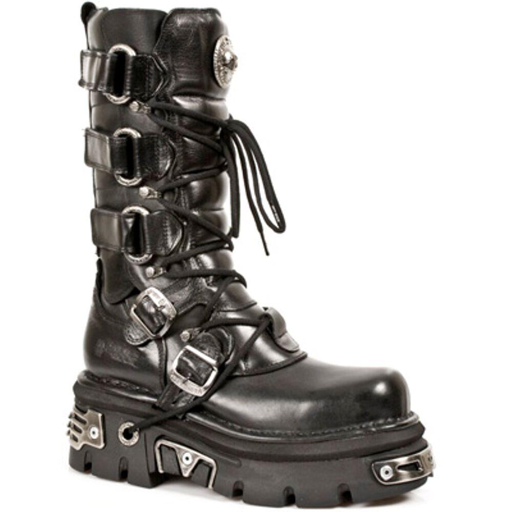 f4cf958f6e0d1d bottes bottes bottes de rock noir style unisexe 474 s1 | Expédition Rapide  1451b3