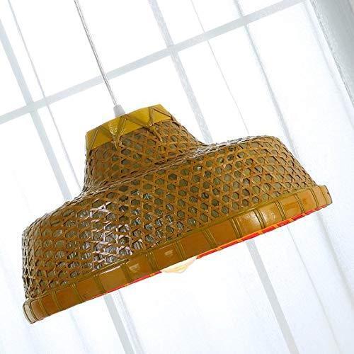 Asian Environmental Varnish Handmade Bamboo Hanging Lamp Creative Ancient Lamp