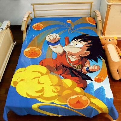 Bettwäsche Quilt Cover 150x200CM Neu Son Goku Dragonball Z Tagesdecke Sheet
