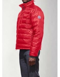 Mens-Canada-Goose-Lodge-Hoody-Jacket-Size-XL-Down-RED