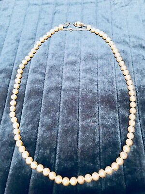 be45b7ed0 Details about Vintage Majorica Pearl Necklace - Single Strand 24?