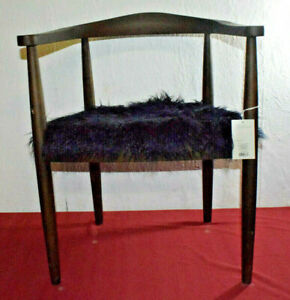 Pleasant Details About Project 62 Faux Fur Accent Solid Walnut Wood Frame 302319 Marks On Chair Squirreltailoven Fun Painted Chair Ideas Images Squirreltailovenorg
