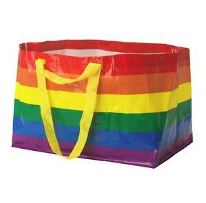 IKEA KVANTING Rainbow Bag Shopping Storage Gay Pride LGBT LGBTQ Buy More & Save