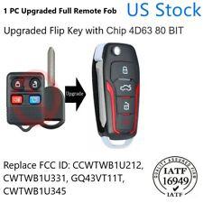 Upgraded Flip Remote Key Fob 315mhz 4d63 Cwtwb1u331 For 2004 2014 Ford F150 F250 Fits Ford