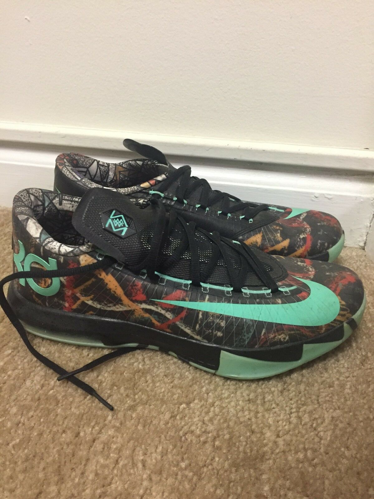 Nike KD All-Star VI 6 Illusion Size 10.5 Gumbo League worn  5 times