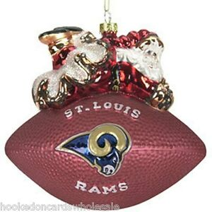 American Football Glass Christmas Bauble