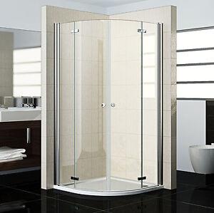 Duschkabine 90x90 viertelkreis mit duschtasse