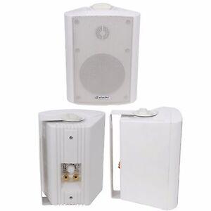 QUALITY-3-034-60W-White-Background-HiFi-Speaker-100V-amp-8ohm-Wall-Mount-Bookshelf