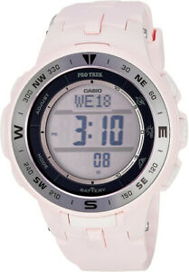 Casio-Women-039-s-Pro-Trek-Triple-Sensor-Tough-Solar-Pink-Resin-Watch-PRG330-4