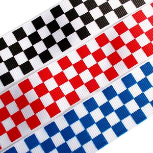 2m x 25mm Chequered Flag Ribbon