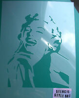 Marilyn Monroe Stencil Reusable Craft Cake Home Decor Art Painting Ideal Stencil