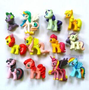 12Sets-Lot-My-Little-Pony-Mini-Action-Toys-Figures-Rainbow-Dash-Pony-Kids-New