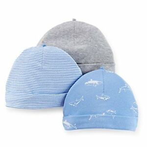 Image is loading Carter-039-s-Baby-Boy-3-Pack-Hats- 79eaa14c77db