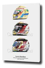 "Lewis Hamilton Canvas art print poster foto 30 ""X20"" F1 Mercedes 2015 CHAMPION"