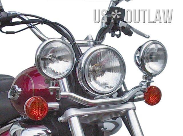 Halter für 2 Zusatzscheinwerfer Lampenhalter für Suzuki VZ800 Marauder VZ 800
