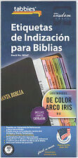 Spanish Bible Indexing Rainbow Tabs Old & Testament Includes Catholic 053478