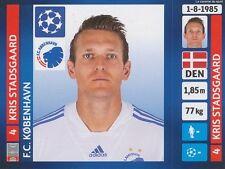 N°138 STADSGAARD # DENMARK FC.KOBENHAVN CHAMPIONS LEAGUE 2014 STICKER PANINI