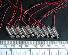 Electric motor - miniature vibration type - 3 volt , 6 mm diameter - pack of 10