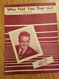 Vintage-Sheet-Music-Vocal-Piano-Who-Told-You-That-Lie-Phil-Brito-Segal-1946
