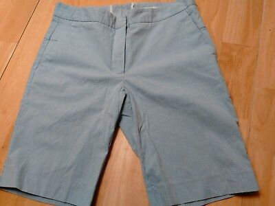 Shorts ▐h&m▐ Women's Size 8 Blue Pinstripes Bermuda Shorts Wide Varieties Women's Clothing