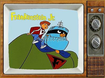 "FRANKENSTEIN JR TV Fridge MAGNET  2/"" x 3/"" art SATURDAY MORNING CARTOONS"