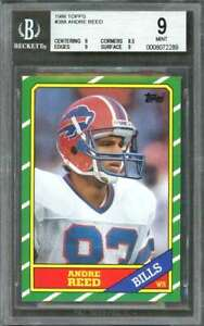 1986-topps-388-ANDRE-REED-buffalo-bills-rookie-card-BGS-9-9-8-5-9-9