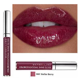 Maybelline Lip Gloss Colour Sensational Moisturiser Makeup Glossy STELLAR BERRY