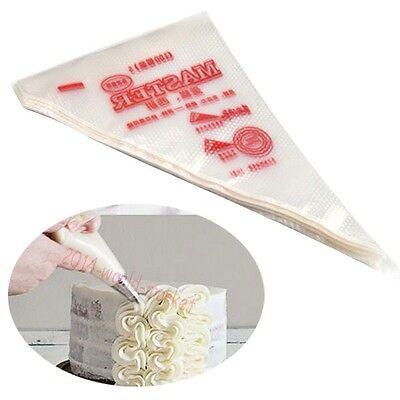 HOT 100pcs Disposable Icing Piping Bag Cake Cupcake Decorating Modelling Tool #T