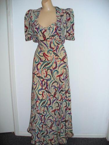Vintage 1940-50's 2 Pc Long Dress W/Bolero Jacket-