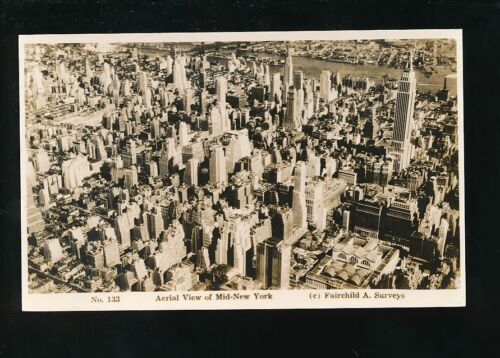 USA Mid NEW YORK Aerial view c192030s? RP PPC by Fairchild