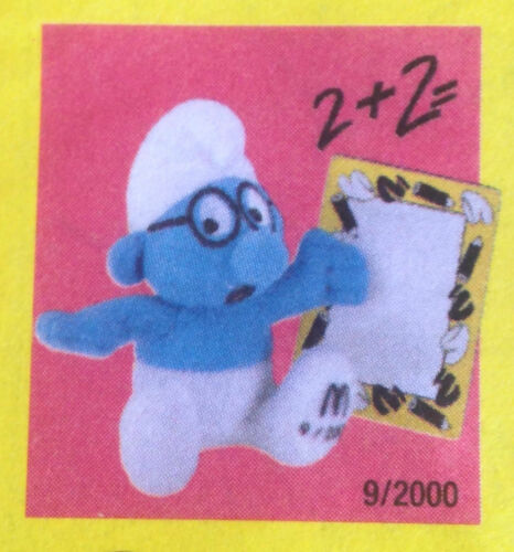 McDonalds Happy Meal Toy 2000 Calendar Smurfs Monthly Cuddly Figures Various