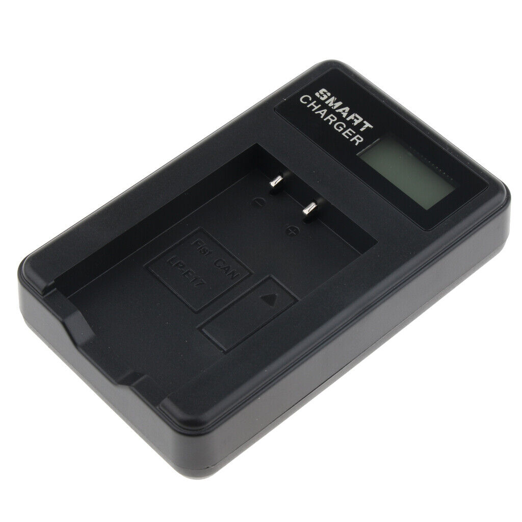 LC-E17 Battery Charger for Canon EOS M3 M5 M6 Rebel SL2 T6i T6s T7i 200D 77D