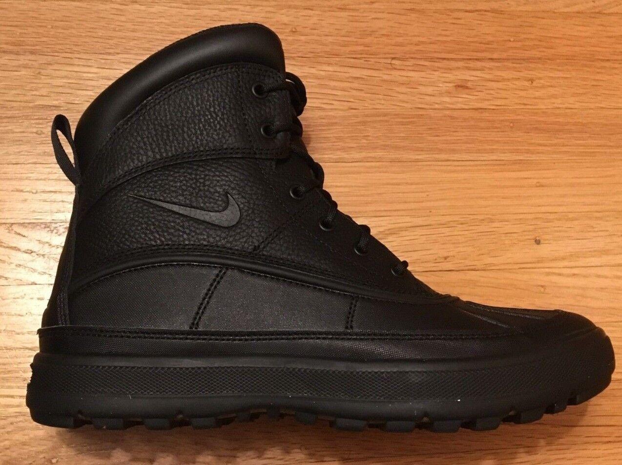 BNIB MEN'S NIKE ACG Woodside II LEATHER BOOTS  Black Black  525393 090
