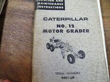 Cat Caterpillar 12 Motor Grader Operation And Maintenance Manual 99e
