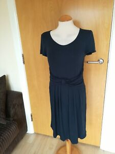 Ladies-FENN-WRIGHT-MANSON-Dress-Size-10-PETITE-Navy-Stretch-Smart-Casual-Day