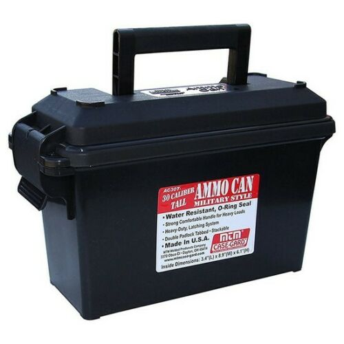 MTM AC30T40 Black 30 Caliber Tall Ammo Can w//Water-Resistant O-Ring Seal