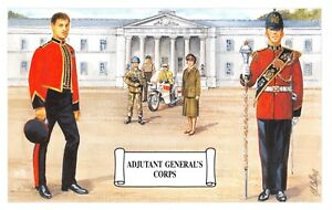 Postcard-Adjutant-General-039-s-Branch-Display-of-different-forms-of-Corps-Dress