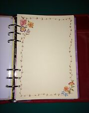 Filofax A5 Organiser Planner - 20 Sheets of Beautiful Flower & BorderPaper