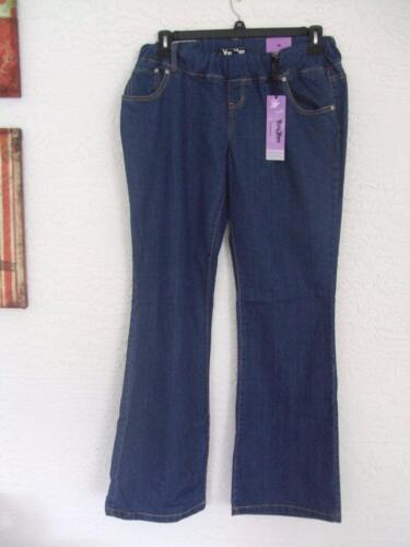 NEW YOM YOM MISSES MEDIUM MATERNITY 5 POCKET LONG DENIM JEANS
