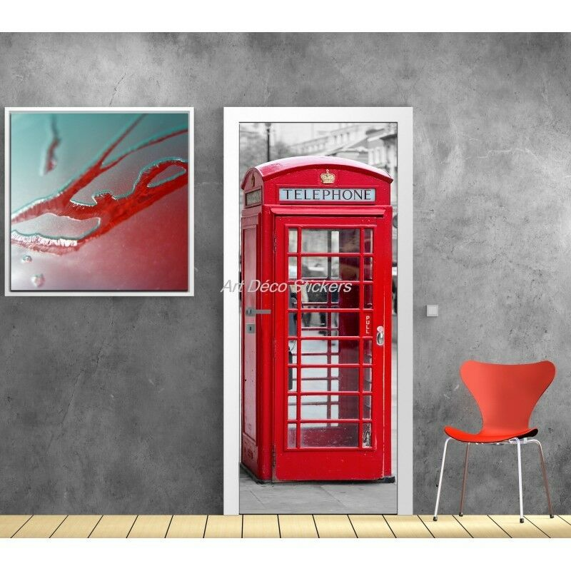 Plakat Plakat für Tür Schein Auge Kabine Telefon Englische 583 Kunst Dec.