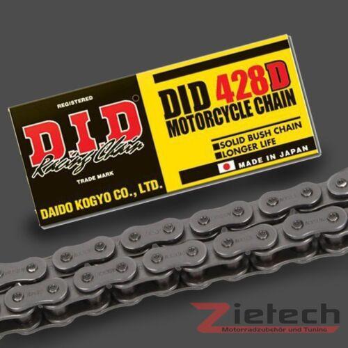 DID MOTO chaîne ouverte Clipschloss Standard 428 D 130 maillons acier Couleurs