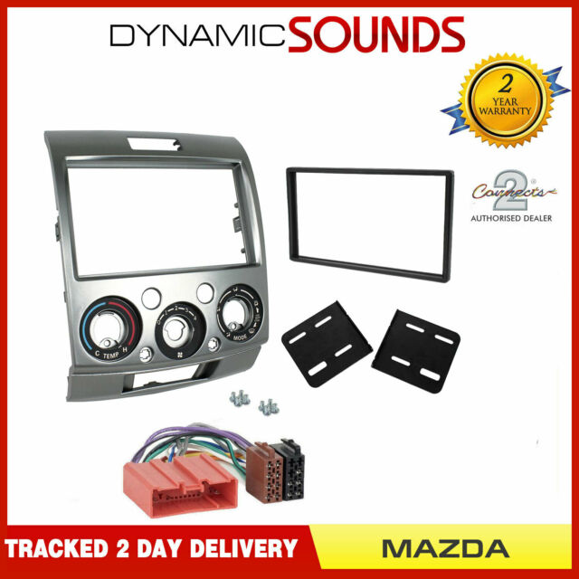 CT23FD14 Ford Ranger 07-12 Silver Double Din Stereo Fitting Facia