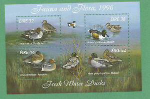 Ireland SC#1027a Fresh Water Ducks MS 1996