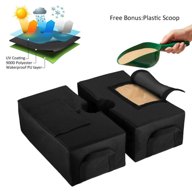 Weight Sand Bag For Umbrella Base Stand 2 Detachable Bags Square Outdoor Patio Ebay