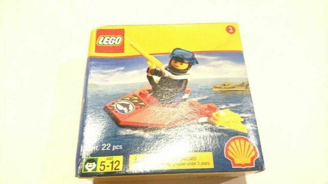 Vintage Lego Shell Promotional Jet Ski Boat Diver With Figure 2536 For Sale Online Ebay